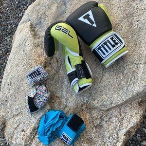 Title Gel 🥊 gloves  -like new